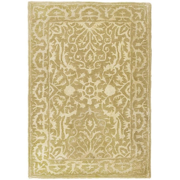 Safavieh Handmade Silk Road Ivory Wool/ Viscose Rug (2' x 3')