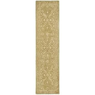 Safavieh Handmade Silk Road Ivory Wool/ Viscose Rug (2'6 x 8')
