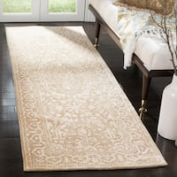"Safavieh Handmade Silk Road Ivory Wool/ Viscose Rug - 2'6"" x 8'"