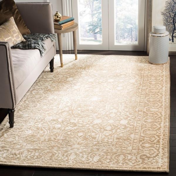 Safavieh Handmade Silk Road Ivory Wool/ Viscose Rug - 2'6 x 4'