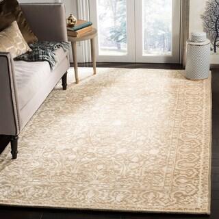 Safavieh Handmade Silk Road Ivory Wool/ Viscose Rug (4' x 6')