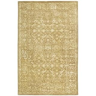 Safavieh Handmade Silk Road Ivory Wool/ Viscose Rug (6' x 9')