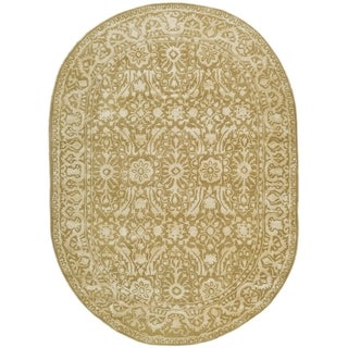 Safavieh Handmade Silk Road Ivory Wool/ Viscose Rug (4'6 x 6'6 Oval)