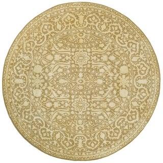 Safavieh Handmade Silk Road Ivory Wool/ Viscose Rug (8' x 8' Round)
