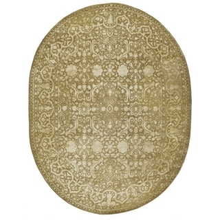 Safavieh Handmade Silk Road Ivory Wool/ Viscose Rug (7'6 x 9'6 Oval)