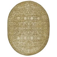 Safavieh Handmade Silk Road Ivory Wool/ Viscose Rug - 7'6' x 9'6' oval