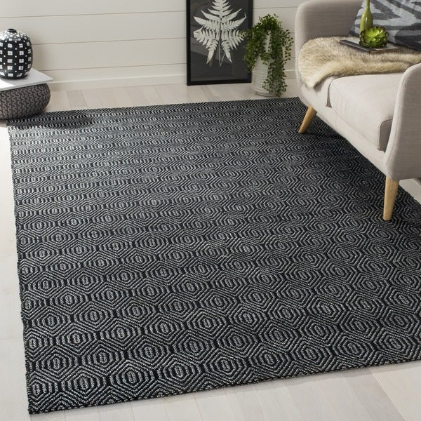 Safavieh Hand-woven South Hampton Black Rug - 7'6 x 9'6