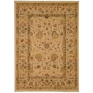 Safavieh Stately Home Ivory/ Gold New Zealand Wool Rug (9'x12')
