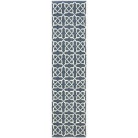 Thom Filicia Hand-woven Indoor/ Outdoor Ink Rug - 2' x 12'