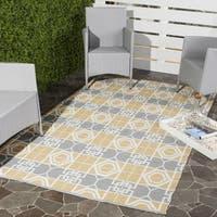 Thom Filicia Hand-woven Indoor/ Outdoor Beige/ Grey Rug - 5' x 8'
