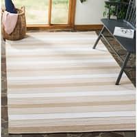 Thom Filicia Hand-woven Indoor/ Outdoor Beige Rug - 4' x 6'