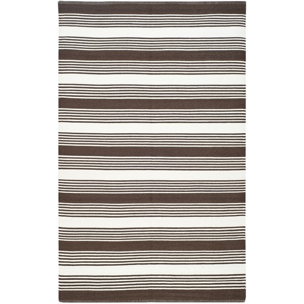 Thom Filicia Hand-woven Indoor/ Outdoor Brown Rug - 8' x 10'