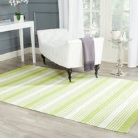 Thom Filicia Hand-woven Indoor/ Outdoor Green Rug - 5' x 8'