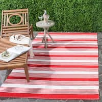 Thom Filicia Hand-woven Indoor/ Outdoor Red Rug - 6' x 9'