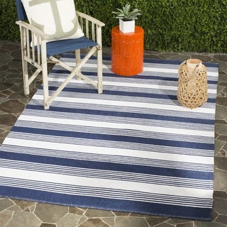 Shop Thom Filicia Hand Woven Indoor Outdoor Blue Rug 3