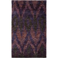 Thom Filicia Hand-knotted Midnight Violet Hemp Rug - 5' x 8'