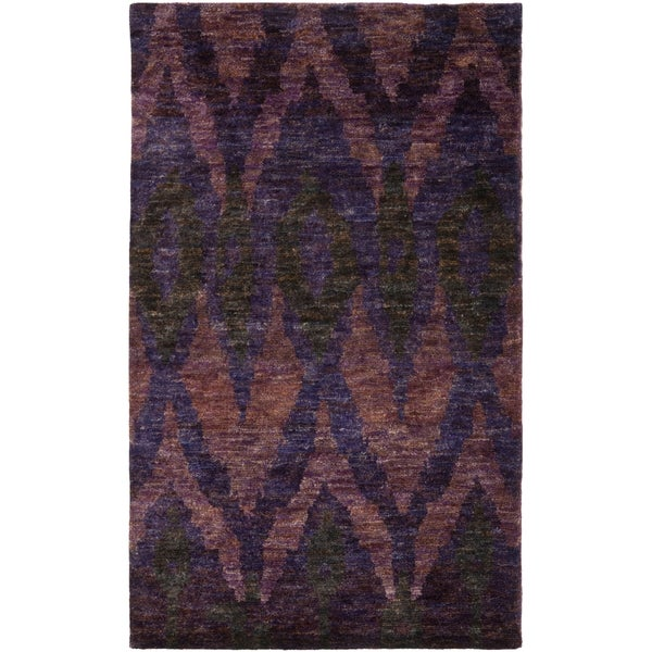 Thom Filicia Hand-knotted Midnight Violet Hemp Rug - 8' x 10'