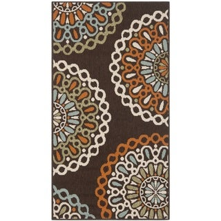 Safavieh Veranda Piled Indoor/ Outdoor Chocolate/ Terracotta Area Rug (2'7 x 5')