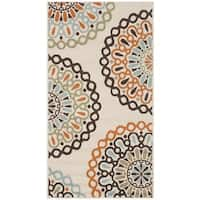 Safavieh Veranda Piled Indoor/ Outdoor Cream/ Terracotta Rug (2'7 x 5') - 2'7 x 5'