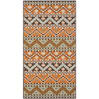 Safavieh Veranda Piled Indoor/ Outdoor Terracotta/ Chocolate Rug - 2'7 x 5'
