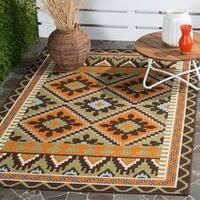 Safavieh Veranda Piled Indoor/Outdoor Green/Terracotta Area Rug - 5'3 x 7'7