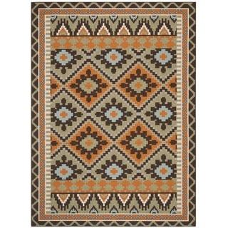Safavieh Veranda Piled Indoor/Outdoor Green/Terracotta Area Rug (8' x 11'2)