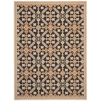 Safavieh Veranda Piled Indoor/Outdoor Chocolate/Terracotta Area Rug - 8' x 11'2""