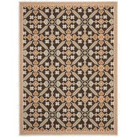 Safavieh Veranda Piled Indoor/Outdoor Chocolate/Terracotta Area Rug - 8' x 11'2'