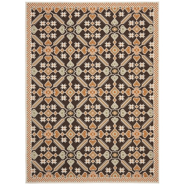 "Safavieh Veranda Piled Indoor/Outdoor Chocolate/Terracotta Area Rug (8' x 11'2"")"