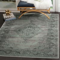 Safavieh Vintage Oriental Light Blue Distressed Silky Viscose Rug - 8' x 11'2