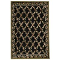 Safavieh Hand-hooked Wilton Black/ Green New Zealand Wool Rug - 7'9 x 9'9