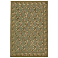 "Safavieh Hand-hooked Wilton Teal/ Olive New Zealand Wool Rug - 8'6"" x 11'6"""