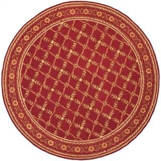 Safavieh Hand-hooked Wilton Red New Zealand Wool Rug (7'9 x 9'9)