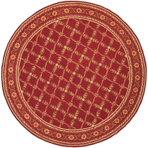 "Safavieh Hand-hooked Wilton Red New Zealand Wool Rug - 8'-6"" x 11'-6"""