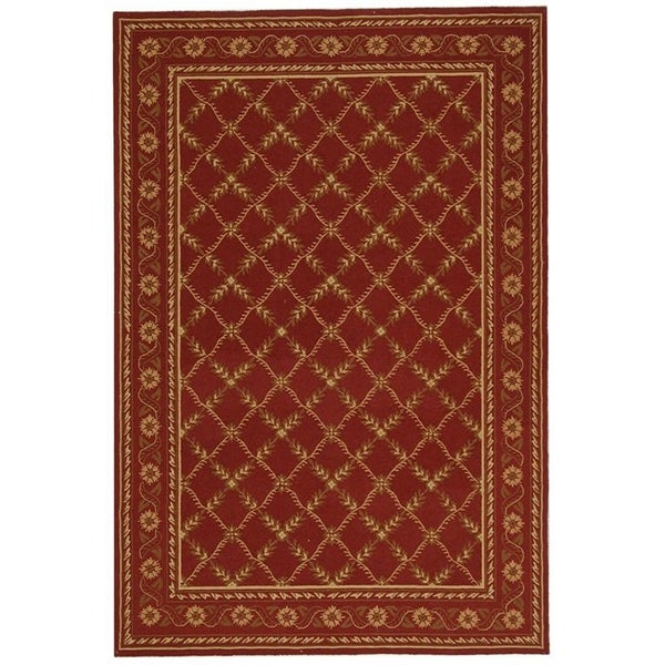 Safavieh Hand-hooked Wilton Red New Zealand Wool Rug - 8'6 x 11'6
