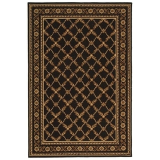 Safavieh Hand-hooked Wilton Black New Zealand Wool Rug (5'6 x 8'6)