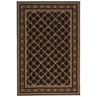 Safavieh Hand-hooked Wilton Black New Zealand Wool Rug - 5'6 x 8'6