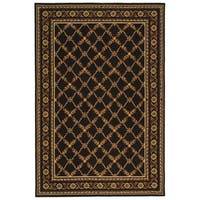 Safavieh Hand-hooked Wilton Black New Zealand Wool Rug - 8'6 x 11'6