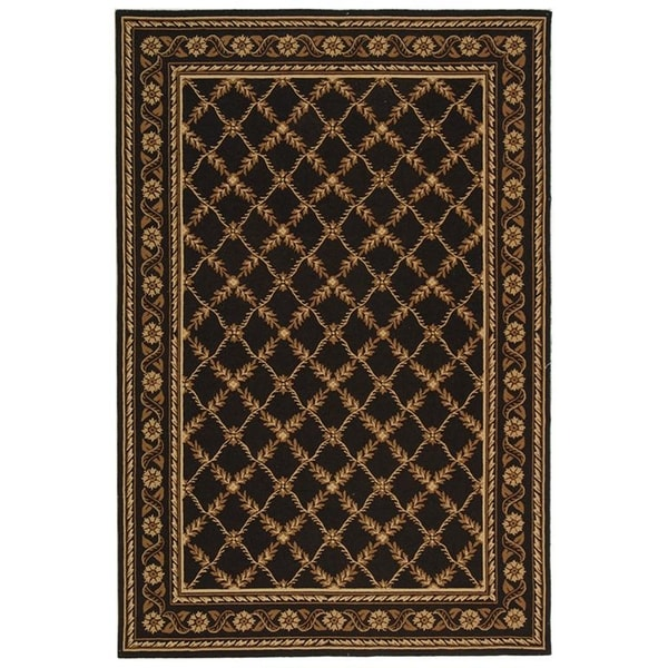 Safavieh Hand-hooked Wilton Black New Zealand Wool Rug - 8'6 x 11'6