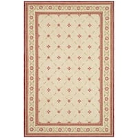 Safavieh Hand-hooked Wilton Beige/ Red New Zealand Wool Rug - 5'6 x 8'6