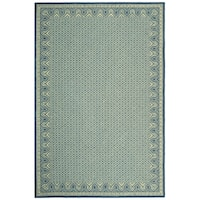 Safavieh Hand-hooked Wilton Ivory/ Light Blue New Zealand Wool Rug - 5'6' x 8'6'