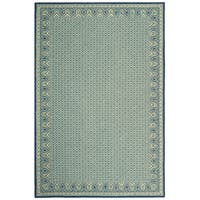 Safavieh Hand-hooked Wilton Ivory/ Light Blue New Zealand Wool Rug - 7'9 x 9'9