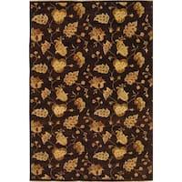 Safavieh Hand-knotted Agra Burgundy/ Beige Wool Rug (9' x 12')