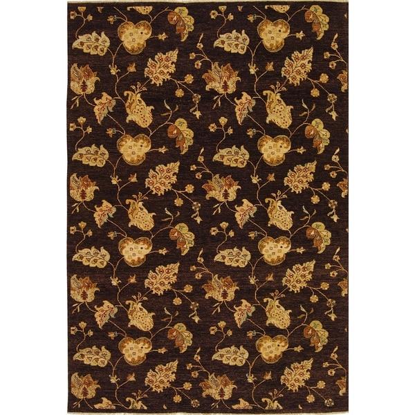 Safavieh Hand-knotted Agra Burgundy/ Beige Wool Rug - 9' x 12'