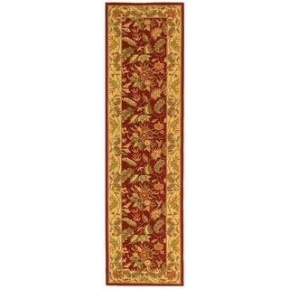 Safavieh Hand-hooked Chelsea Red Wool Rug (2'6 x 14')