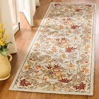 Safavieh Hand-hooked Chelsea Light Blue Wool Rug - 2'6 x 14'