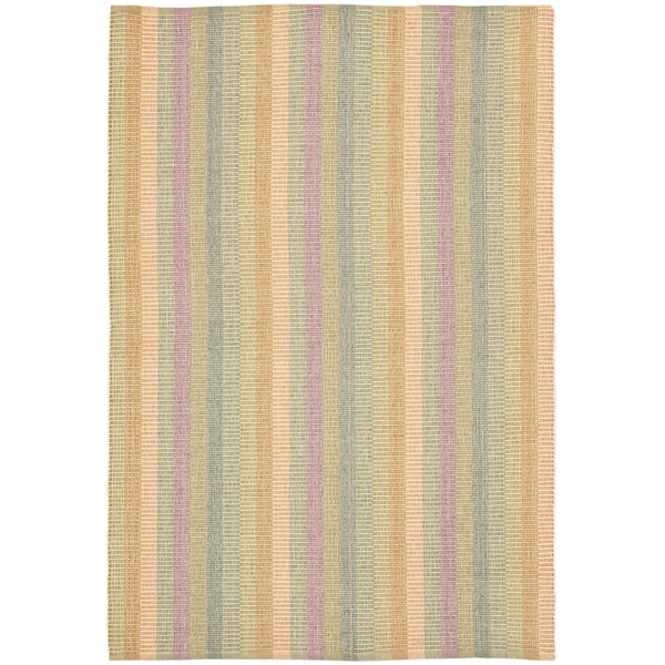 Safavieh Hand-woven Penfield Natural/ Multi Cotton Rug (9' x 12')