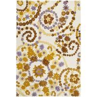Safavieh Hand-hooked Wilton Ivory/ Brown New Zealand Wool Rug - 5' x 8'