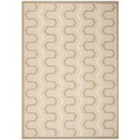 "Safavieh York Cream/ Beige Check Area Rug - 5'3"" x 7'7"""