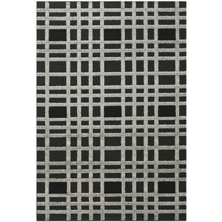 Safavieh York Modern Charcoal/ Black Check Area Rug (5'3 x 7'7)